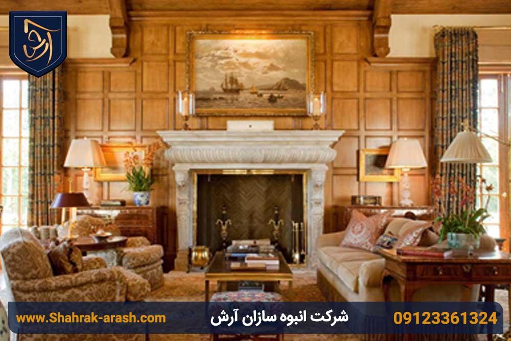 طراحی اتاق نشیمن ویلا