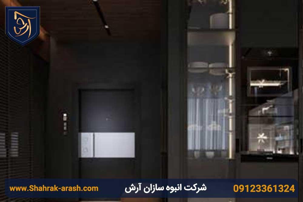 ویلا 3 - طراحی داخلی ویلا با استفاده از فلز مس و چوب