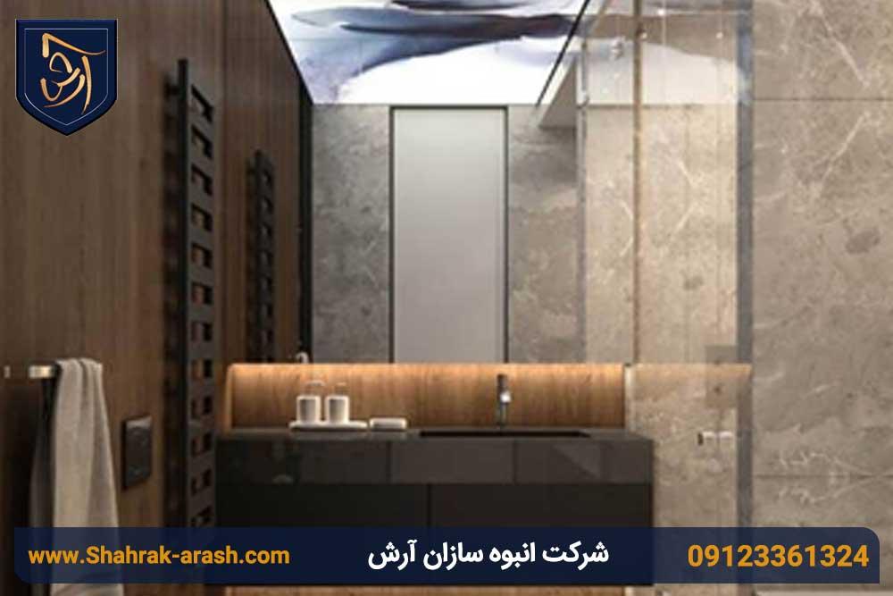 ویلا 5 - طراحی داخلی ویلا با استفاده از فلز مس و چوب