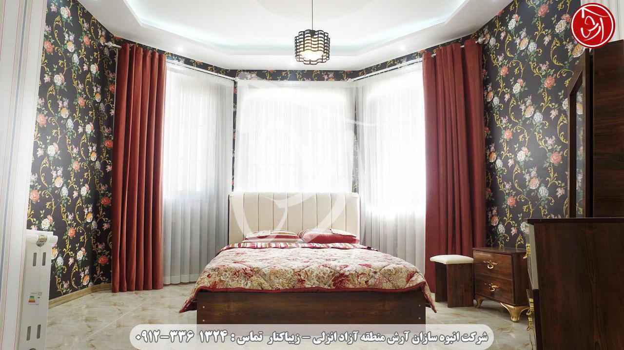 سرویس و تختخواب ویلا قوی سپید کد-630