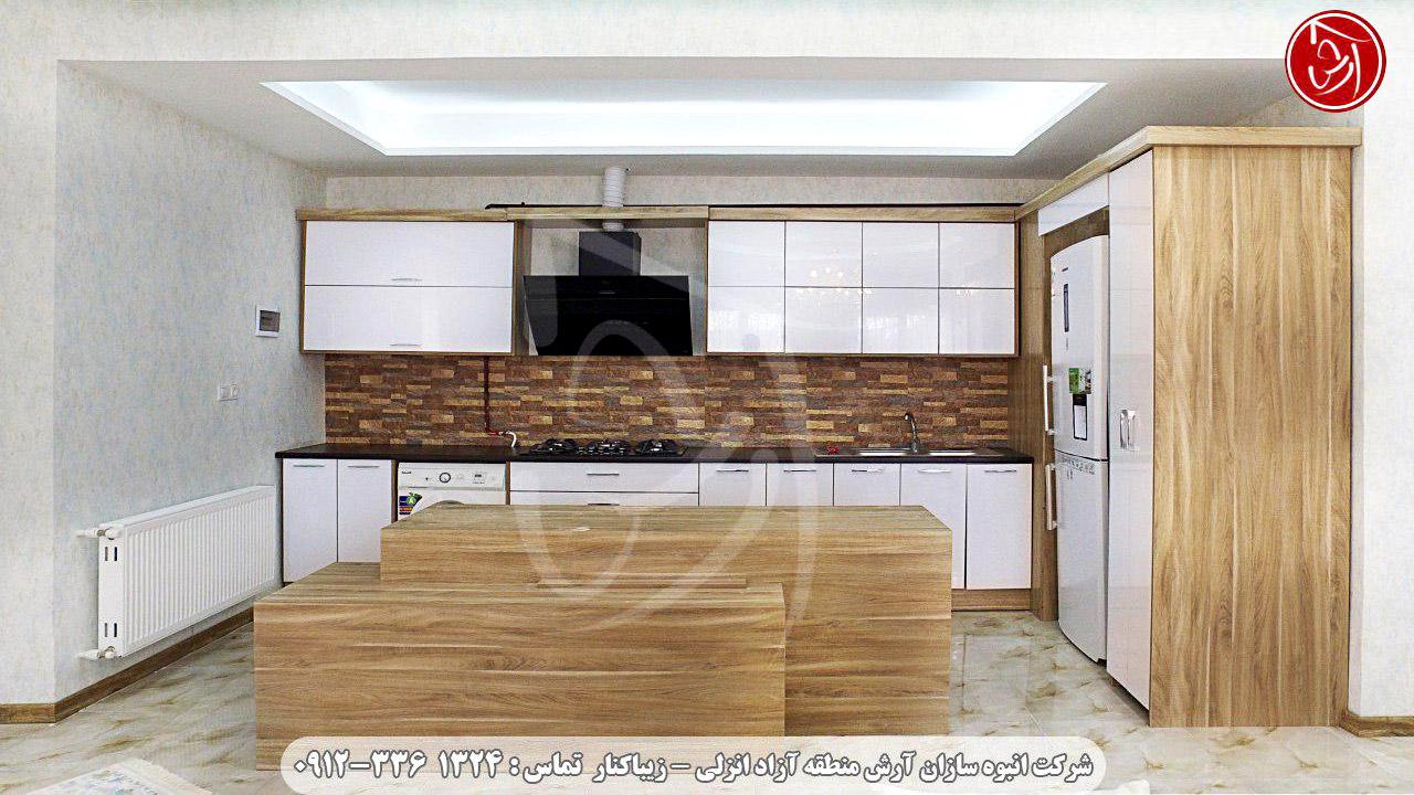 آشپزخانه ویلا قوی سپید کد 630 - شهرک آرش زیباکنار کد 630