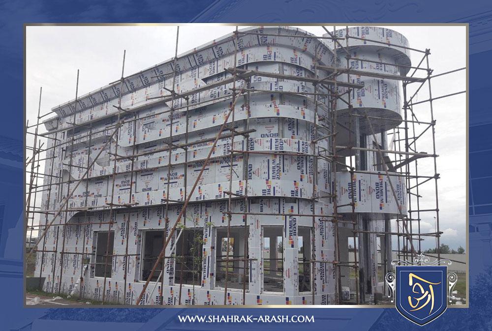 arashmall - مراحل پایانی احداث ساختمان اداری آرش مال منطقه آزاد انزلی