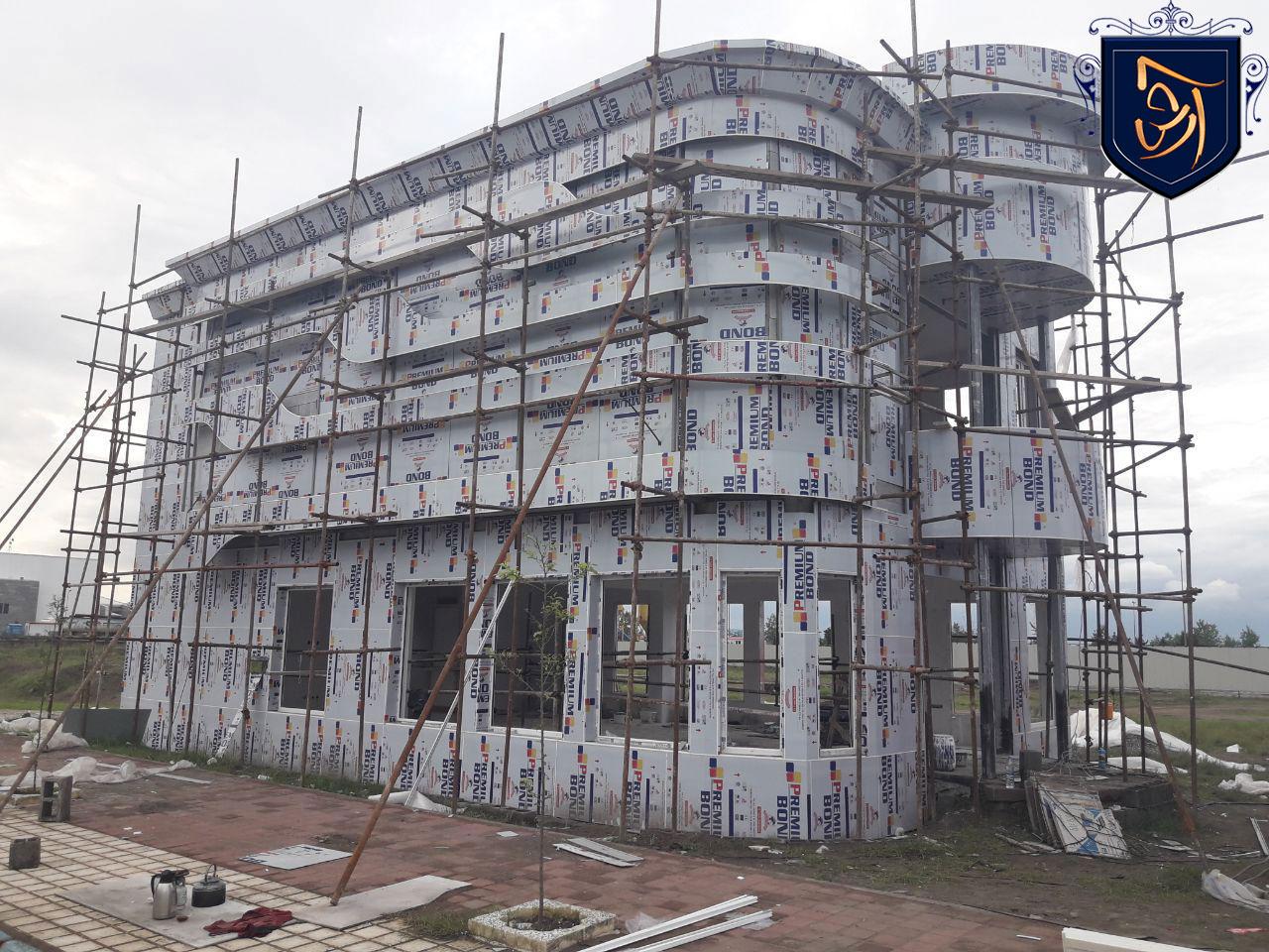 new1 - مراحل پایانی احداث ساختمان اداری آرش مال منطقه آزاد انزلی