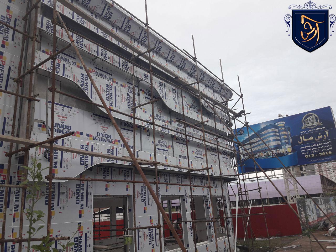 new2 - مراحل پایانی احداث ساختمان اداری آرش مال منطقه آزاد انزلی