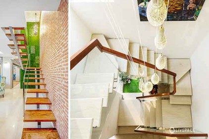 طراحی راه پله باغ ویلا